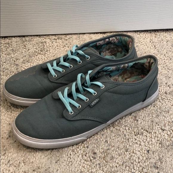 Grey/blue Vans sneakers